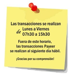 payeer-horario