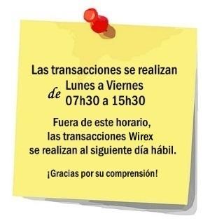 wirex-horario